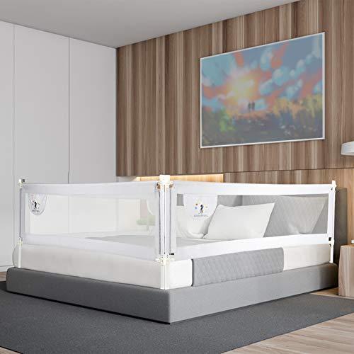 CCLIFE Barandilla de La Cama Guardia de Seguridad para Niños, Barrera de cama portátil 150/180/200cm, Tamaño:200 x 70 cm