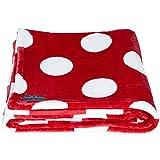Lug Cuddle Throw Travel Blanket, Crimson Dot, One Size