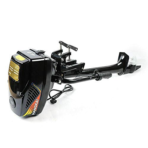 Review Of DD-48V-1000W 4.0HP Electric Outboard Motor Inflatable Fish Boat Engine Long Shaft