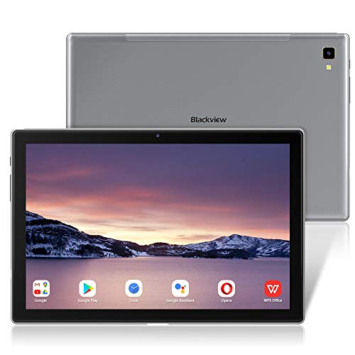 Tablette Tactile 10.1 Pouces, Blackview Tab 8E Android 10, 5G WiFi, 8 Cœurs 1.6 GHz Tablettes, 1920x1200 IPS FHD+, 6580mAh, 13MP+5MP Caméra, 3+32Go (SD 128Go), Bluetooth 5.0/GPS/Face ID/OTG/Tipo C