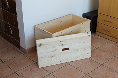 Holztruhe Holzkiste Truhe, 80x40x45cm - 6