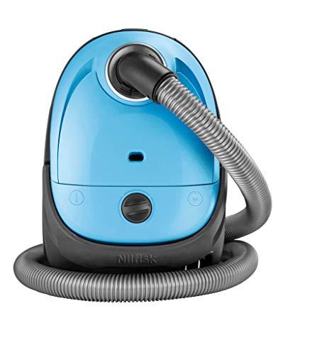 Nilfisk Aspirador de trineo básico One, pequeño, filtro EPA o HEPA, 3 L de capacidad, azul claro