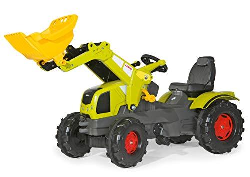Rolly Toys Traktor / rollyFarmtrac Claas Axos 340 (für Kinder im Alter von 3 – 8 Jahre, inkl. rollyTrac Lader, verstellbarer Sitz) 611041