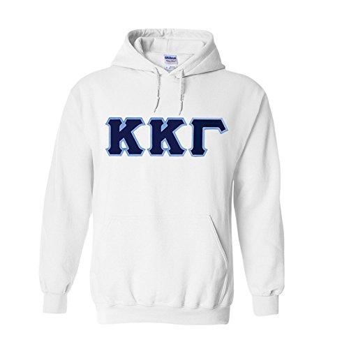 Kappa Kappa Gamma Lettered Hooded Sweatshirt Large White