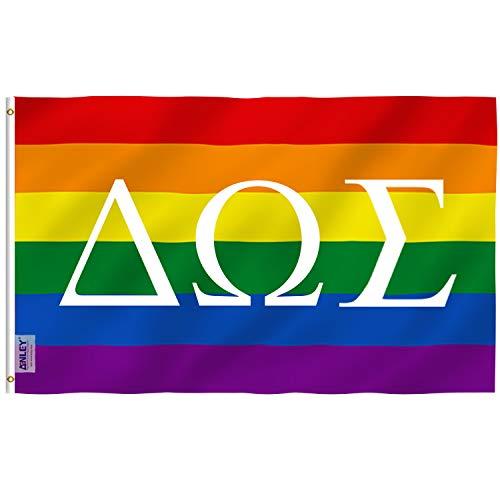 ANLEY Dubbelzijdige broederschappen en studentenverenigingen Aangepaste vlag 5 x 8 voet, Griekse letters Aangepaste vlaggen - Levendige kleuren, Canvaskop en dubbel gestikt - 100D polyester met koperen ringen 5 X 8 Ft