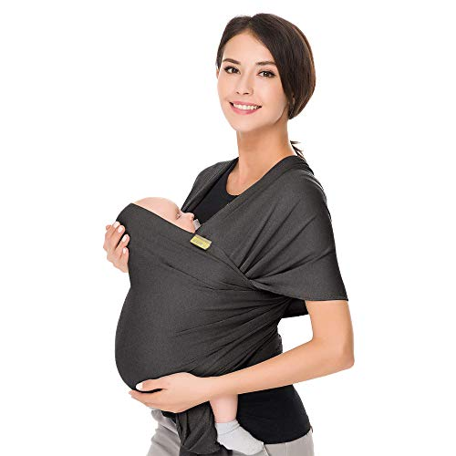 CUBY Baby Sling Wrap Carrier from Newborns to Todder Child Gray