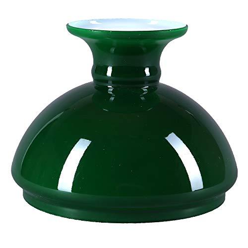 Lampenglas Grün Petroleumlampe Ersatzglas Ø 154mm Leuchtenglas Glasschirm Vestaschirm