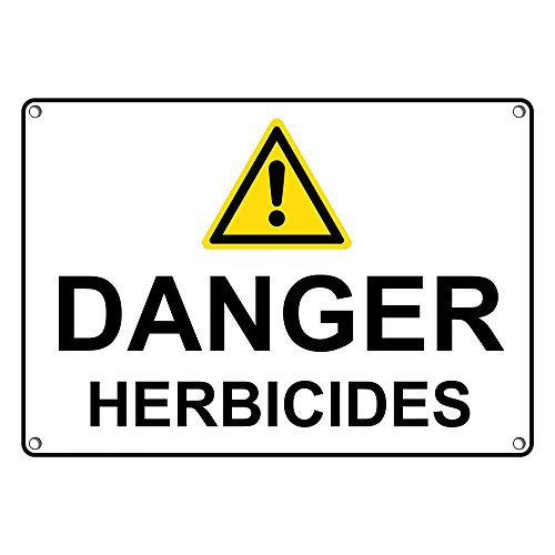Weatherproof Plastic Danger Herbicides Memphis Mall Sign Text Max 52% OFF with an English