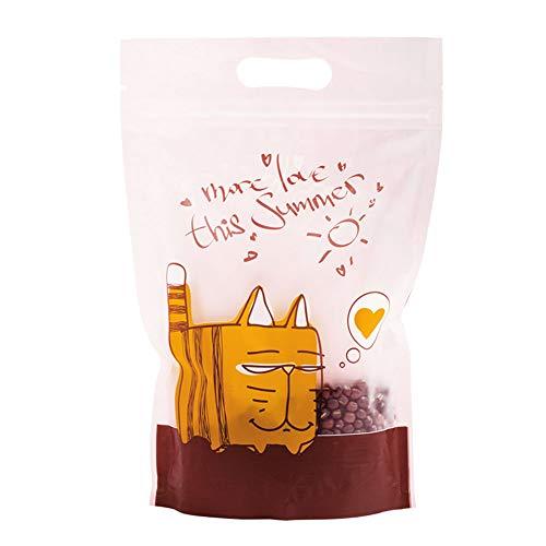 BLANCHO BEDDING Packung mit 50 Stück Schöner Sommer Cat Stand Up Pouch-Beutels mit Zip-Verschluss für Nahrungsmittelspeicher-Partei-Bevorzugung