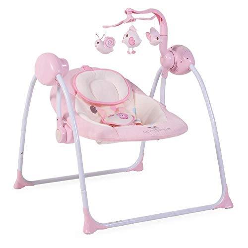 Cangaroo Swing Plus elektrische Babywippe mit Schaukelfunktion und Musik, rosa TY008A1