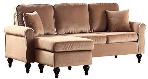 Divano Roma Furniture Classic Sectional, Champaign