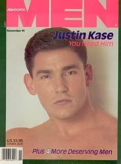 (Advocate) Men Magazine - November 1991 (Cover Model - Justin Kase)