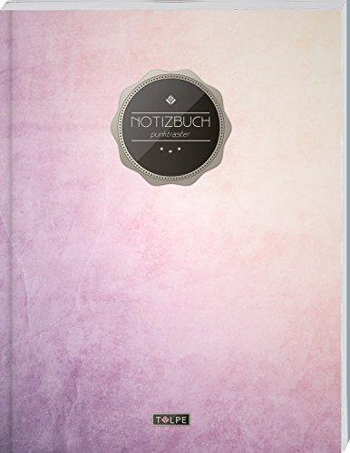 """TULPE Punktraster Notizbuch A4 """"C086 Wischtechnik"""" (140+ Seiten, Vintage Softcover, Punktkariertes Papier - Bullet Journal, Dickes Notizheft, ... Gepunktete Seiten, Dot Grid Notebook)"""