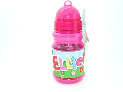 Ellie - Botella con tapa de cierre plegable y práctica con tapa libre de BPA que sella la paja por lo que es perfecta para bolsas de almuerzo de 16 cm de altura. Ten en cuenta que los nombres de las botellas no se pueden cambiar el nombre que recibirás está en el título