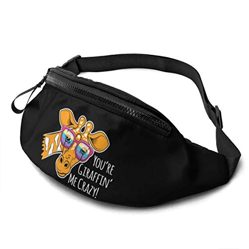 AOOEDM Waist Bag for Men Women, You 'are Giraffin' Me Crazy Casual Outdoor Waist Bag for Workout Travel Hiking