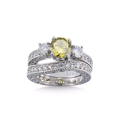 CTDMMJ Anillos de Cristal para Mujer Infinity Statement Wedding Jewelry