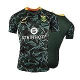 ZDVHM 2019 Afrique du Sud Springboks Jersey Rugby Jersey Uniforme Sleeve Courte 100% Polyester Tissu Respirant T-Shirt T-Shirt Chemise de Football pour Hommes Femmes Enfants (Color : 1, Size : L)