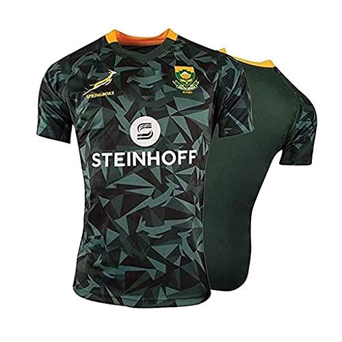 2019 South Africa Springboks Rugby Jersey Uniforme de manga corta 100% Poliéster Tela transpirable Deportes Entrenamiento Camiseta Camisa de Fútbol para Hombres Mujeres Niños ( Color : 1 , Size : L ) 🔥