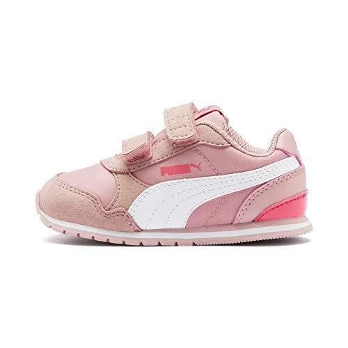 PUMA ST Runner v2 NL V Inf Kinder Low Boot Sneaker Bridal Rosa-Weiss-Calypso Coral, tamaño:27