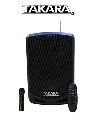 Takara Karaoke Speaker T-6106 Portable Speaker 6.5 Inch Multimedia BT, Karaoke with Recording, USB, PA System with Wireless Mic, FM
