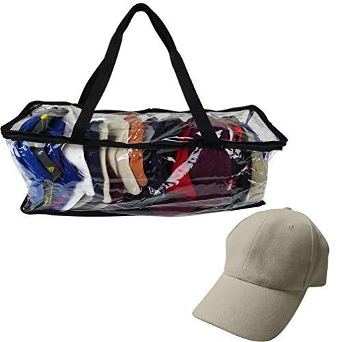 Evelots Sport Hat/Cap Storage Bag-Baseball-Handle-No Dust/Moisture-Up to 15 Hats