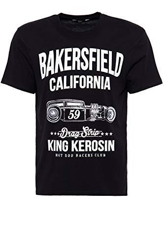 King Kerosin Bakersville T-Shirt, Nero, M Uomo