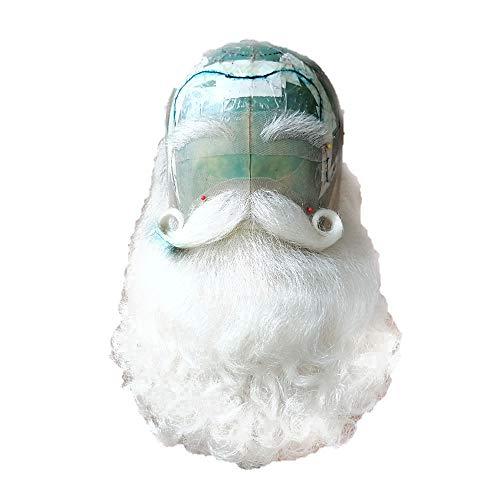 2018 Yak Hair Santa Claus Beard and Fake Moustache Set B-15
