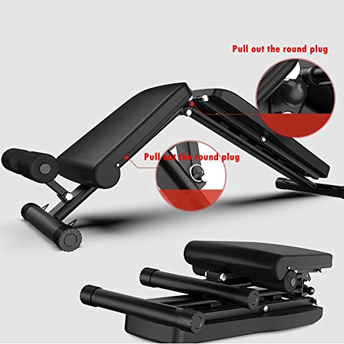 Adjustable Weight Bench,Multi-Workout Abdominal/Hyper Back Dumbbell Bench , Flat/Decline/Sit Up For Equipment Folding Bench for Commercial and Home Use