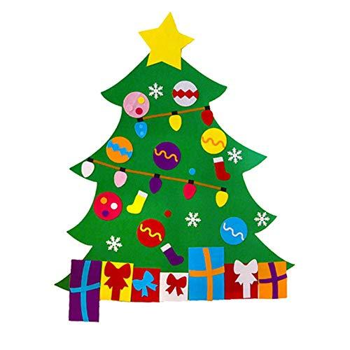 Luminiu Fieltro Árbol de Navidad, DIY árbol de Navidad DIY Fieltro paño árbol de Navidad guardería Escuela Padres de niños de Actividades de decoración niños pequeños Regalos