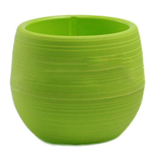 Hosaire 1x Vase à fleurs en plastique coloré pots de stockage circulaires maison jardin accessoires pour la maison de décoration bureau