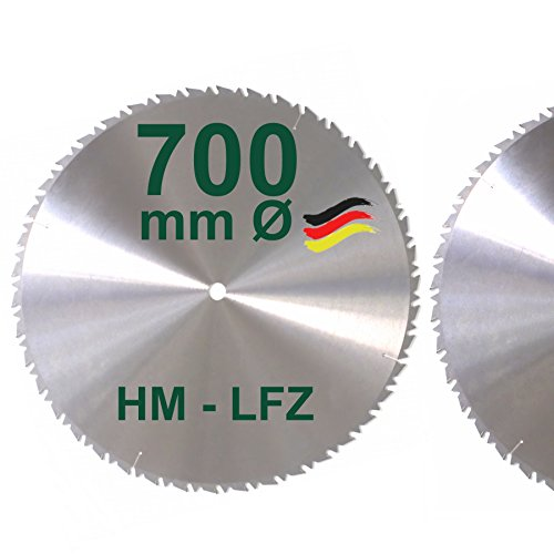 HM Sägeblatt 700 mm LFZ Flach-Zahn Hartmetall Widea für Brennholz Hartholz Kreissägeblatt für Wippsäge und Brennholzsäge 700mm