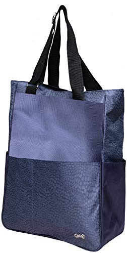 Glove It Women's Tennis Tote Bag Big Fashion Tote Bag for Women - Womens Large Tote Bags with Zipper & Shoulder Strap - 6 Outside Pockets - Ladies Sport Totes - 2019 Chic Slate