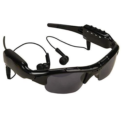 TBYGG Draagbare bluetooth-zonnebril, 1080p camera, stereo muziek, DV videorecorder glazen, handenvrij fietsbril, wielersport zonnebril, met microfoon hoofdtelefoon, USB-kabel