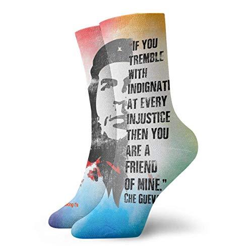 REAlCOOL Che Guevara Admirer Revolutionary Calcetines deportivos unisex para hombres y mujeres Medias novedosas para adolescentes