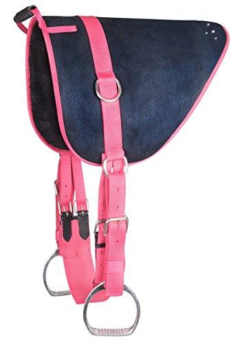 Waldhausen Bare Back Pad Reitkissen Reitunterlage auch für Holzpferde geeignet d.blau/pink