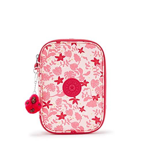 Kipling BTS - Estuches para lápices (100 unidades), Rosa (Pink Leaves), Talla...