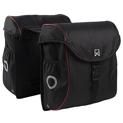 Willex Fahrradtasche 38 L Schwarz Rot Doppeltasche Gepäcktasche Packtasche