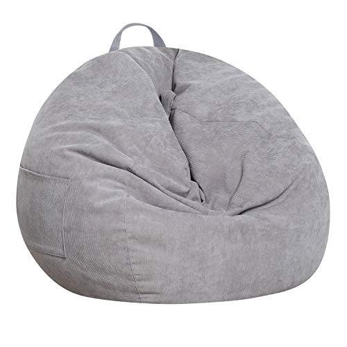 SANMADROLA Stuffed Animal Storage Bean Bag Chair Cover (No Beans)