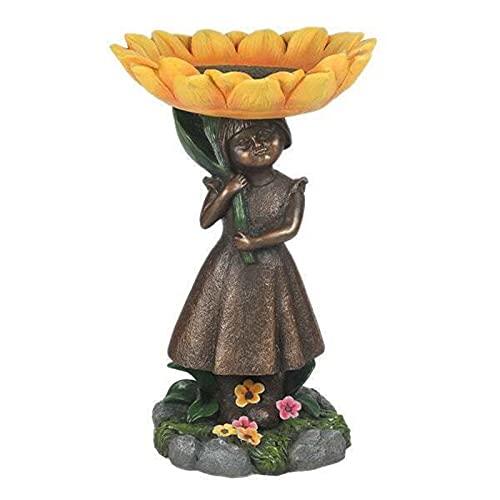 Gongcheng Adorno para el baño, diseño de girasol, hecho a mano, resina artesanal, muebles para el jardín del hogar, decoración del patio