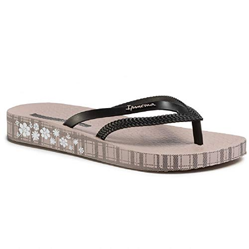Ipanema Bossa Soft IV Fem, Damen-Flip-Flops, Schwarz - Beige Black - Größe: 38 EU