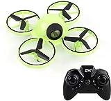 Mnjin Mini Drone para niños con luz Parpadeante One Key Take Off Spin Flips Crash Proof RC Nano Quadcopter Juguetes Drones para Principiantes Niños y niñas, Batería Adicional