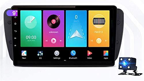 JALAL Autoradio Android 9 Pollici Touch Screen Autoradio Lettore multimediale GPS Compatibile con Seat Ibiza 6j 2009-2013 Car Stereo Bluetooth Plug And Play Controllo del Volante Mirrorlink