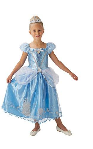 Princesas Disney - Disfraz de Cenicienta Deluxe para niña, infantil 7-8 años (Rubie