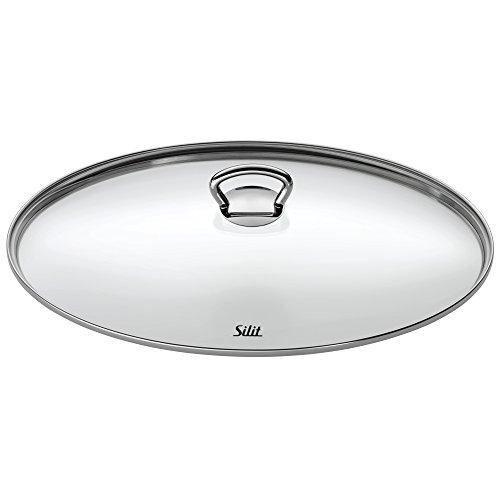 Silit Glasdeckel 36 cm mit Metallgriff, oval, Deckel für Silargan Bräter, hitzebeständiges Glas, spülmaschinengeeignet
