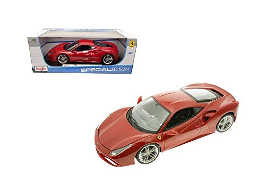 Ferrari 488 GTB Red 1/18 Diecast Model Car by Maisto 31711