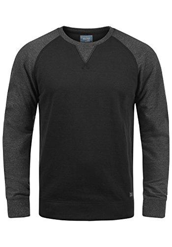 Blend Aari Herren Sweatshirt Pullover Pulli Mit Rundhalsausschnitt, Größe:L, Farbe:Black (70155)