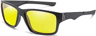 GODYS - Visión nocturna - Hombres Gafas de sol de conducción Hombres Uv400 polarizados Hombres Moda Gafas cuadradas Uv400