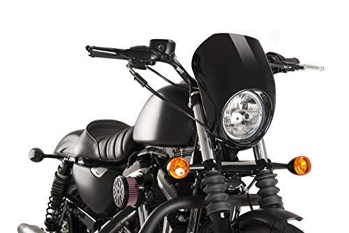 Customaccess AZ1104N Semi-Cupolino Modello Anarchy Nero Customacces per Harley Davidson Sportster 1200 Iron 19'
