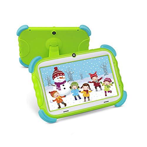 tablet para niños con Funda de Silicona Resistente a caídas máquina de Aprendizaje para niños Pantalla táctil de Alta definición procesador de Cuatro núcleos Video Remoto
