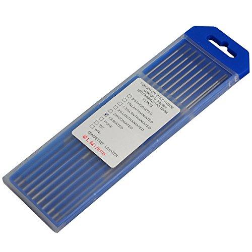 """2% Ceriated WC20 Gris TIG Soldadura electrodos tungsteno 1,6mm x 175mm & 1/16""""x7"""",Paquete de 10"""